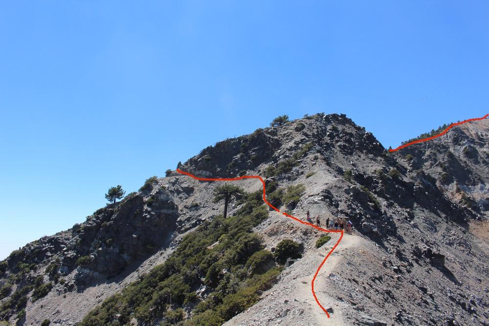 The descent across Devil's Backbone.