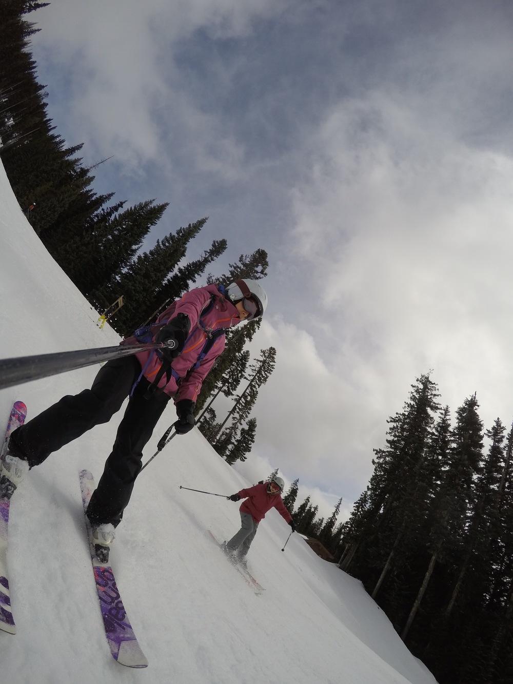 Ski selfies with Mom