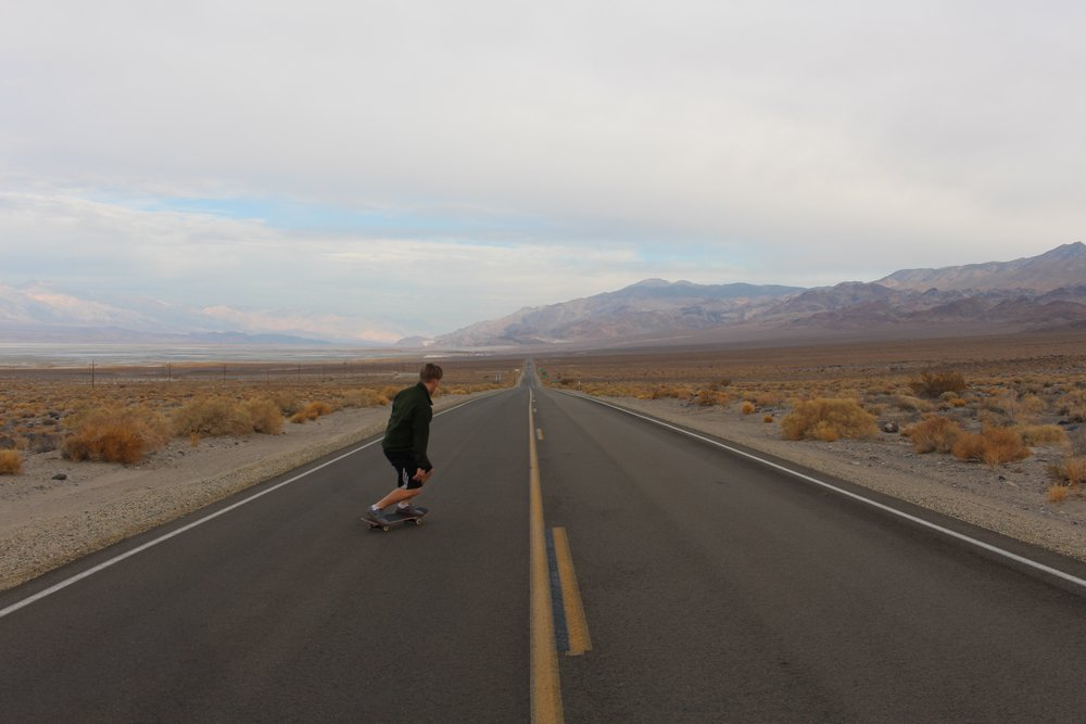 Stopped to enjoy the smooth pavement along US-190.
