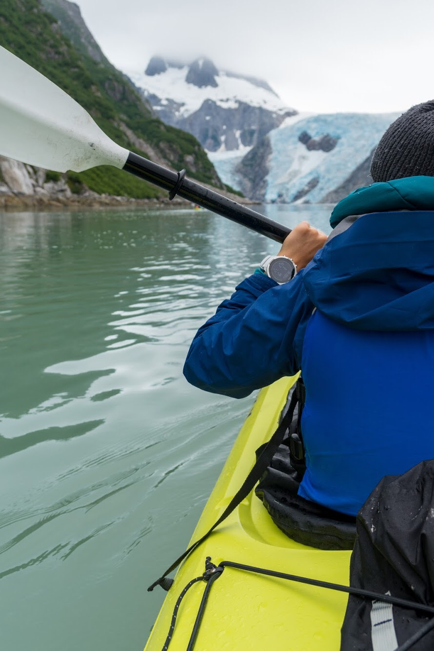 Paddling towards Northwestern Glacier PC @benjamintfleming