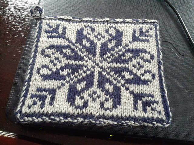 See how the colors are reversed on the back? That's what happens with double knitting.