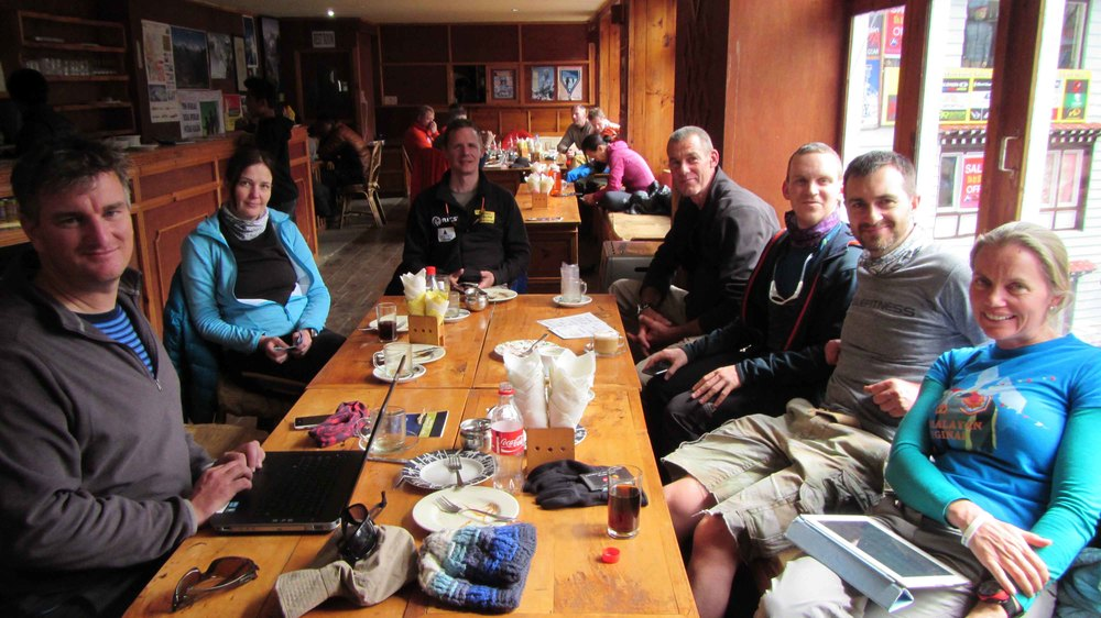 Climbing team has their daily cake and coffee break.jpg