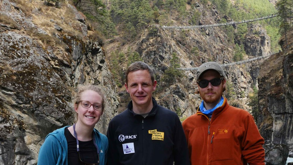 Nick, Sierra, Mike in front of suspension bridge-2.jpg