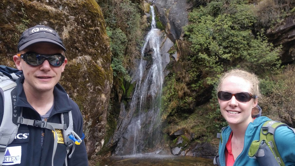 Nick, Sierra in front of waterfall.jpg