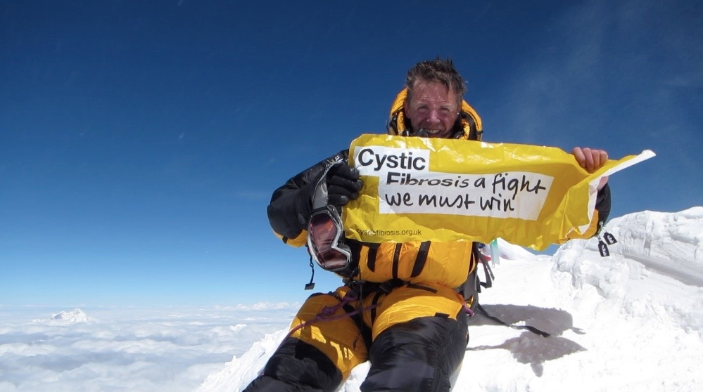 On May 13th 2016 Nick Talbot became the first person with Cystic Fibrosis to summit Mount Everest.
