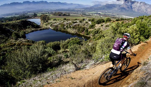 Mountain Biking on Boschendal Trails