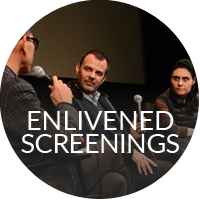 In-person appearances by filmmakers, authors, critics, and scholars, who engage in discussion with audiences.