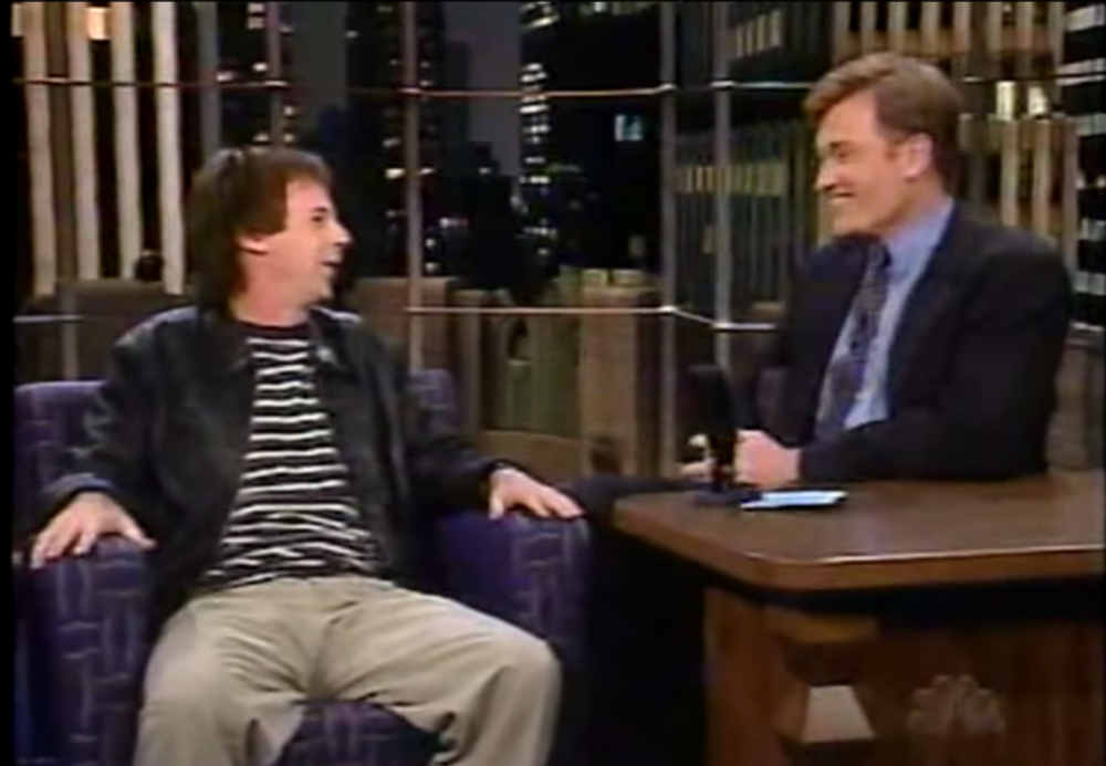 Carvey with Conan O'Brien in 1996.