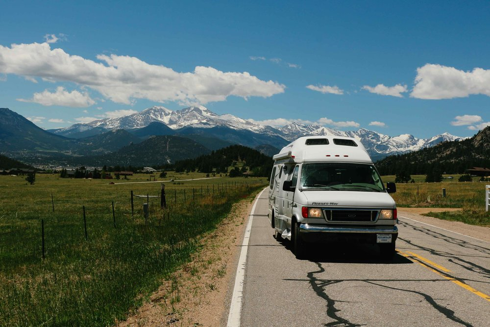 Colorado mountains vanlife