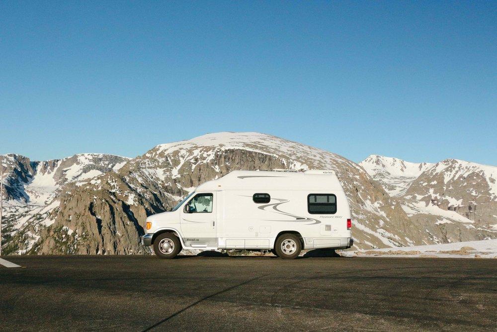 Colorado mountains vanlife