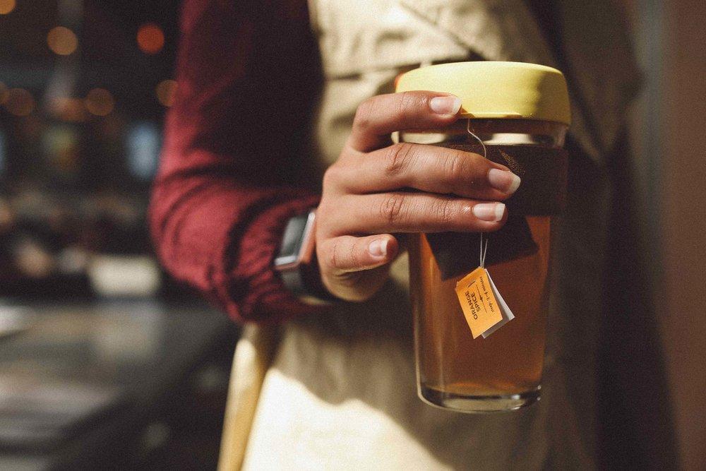Numi Orange Spice Tea in Keepcup