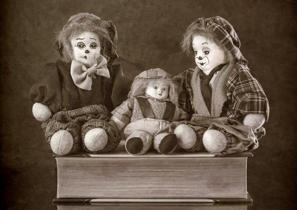 Clown Family Portrait