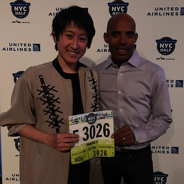 Thanks @runmeb for agreeing to be my emergency contact at the @nyrr United Half on Sunday! 🙃🏃🏻‍♀️