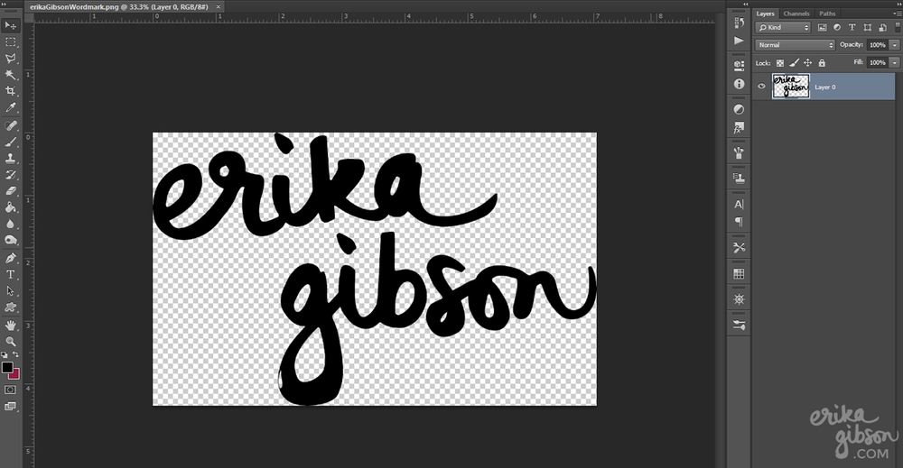 How to Make Your Own Watermark in Less Than Ten Minutes | Erika Gibson