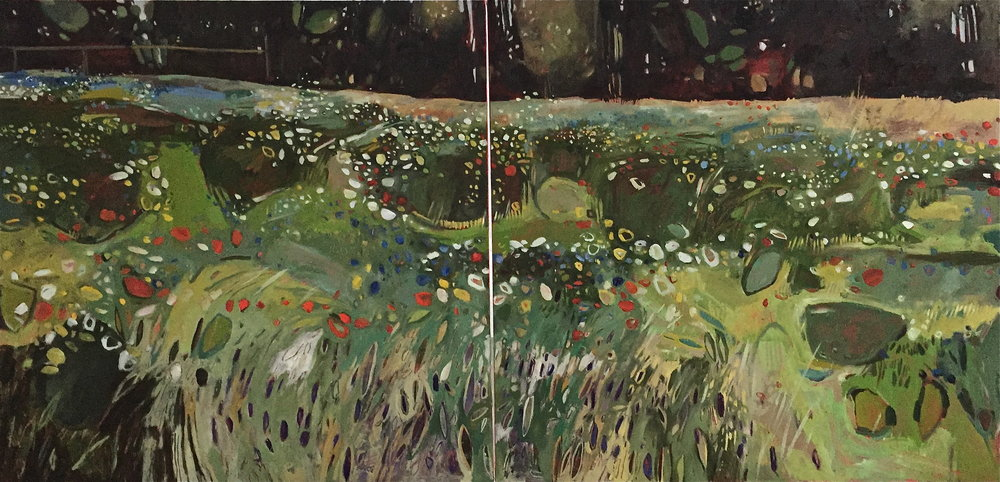Diptych: Summer Meadow