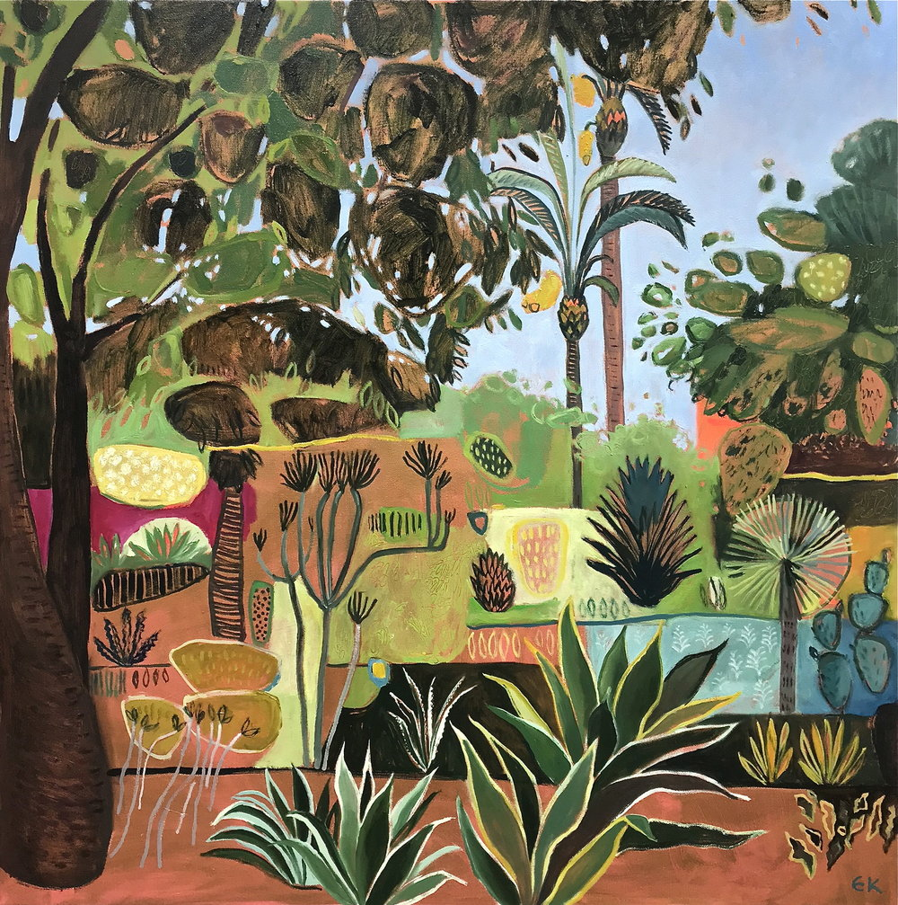 Marjorelle Garden with Cactus, Palms and Agave