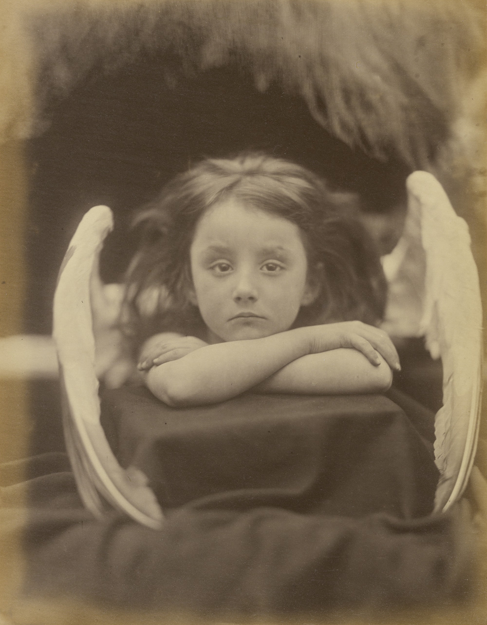 Julia Margaret Cameron (British, born India, 1815 - 1879)  I Wait (Rachel Gurney) , 1872, Albumen silver print 32.7 x 25.4 cm (12 7/8 x 10 in.) The J. Paul Getty Museum, Los Angeles