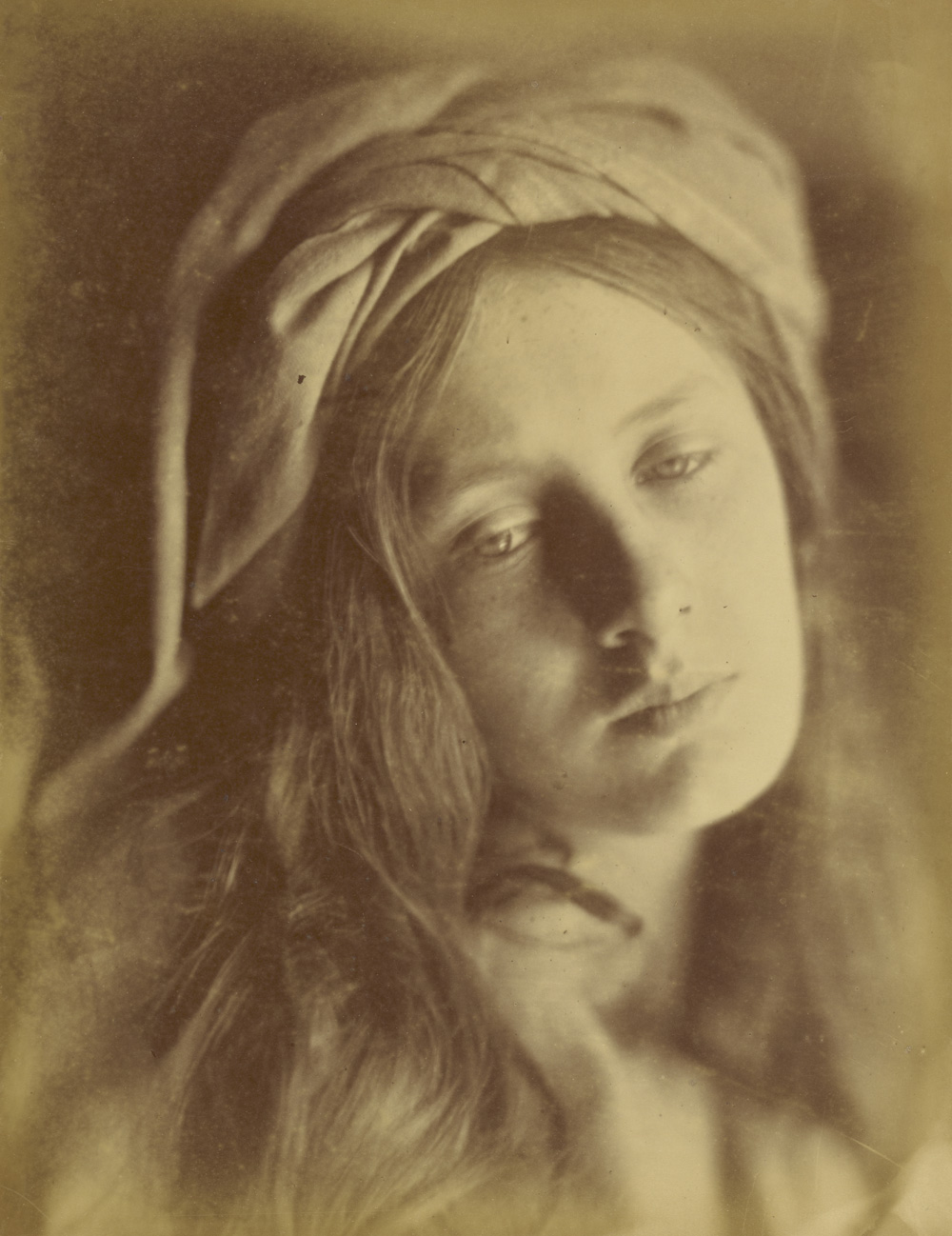 Julia Margaret Cameron (British, born India, 1815 - 1879)  Beatrice , 1866, Albumen silver print 33.8 x 26.4 cm (13 5/16 x 10 3/8 in.) The J. Paul Getty Museum, Los Angeles