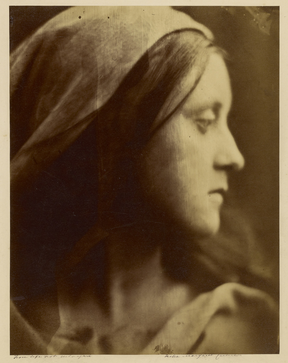 Julia Margaret Cameron (British, born India, 1815 - 1879)  [Study for a Holy Family] , 1866 - 1870, Albumen silver print 34.1 x 26.5 cm (13 7/16 x 10 7/16 in.) The J. Paul Getty Museum, Los Angeles