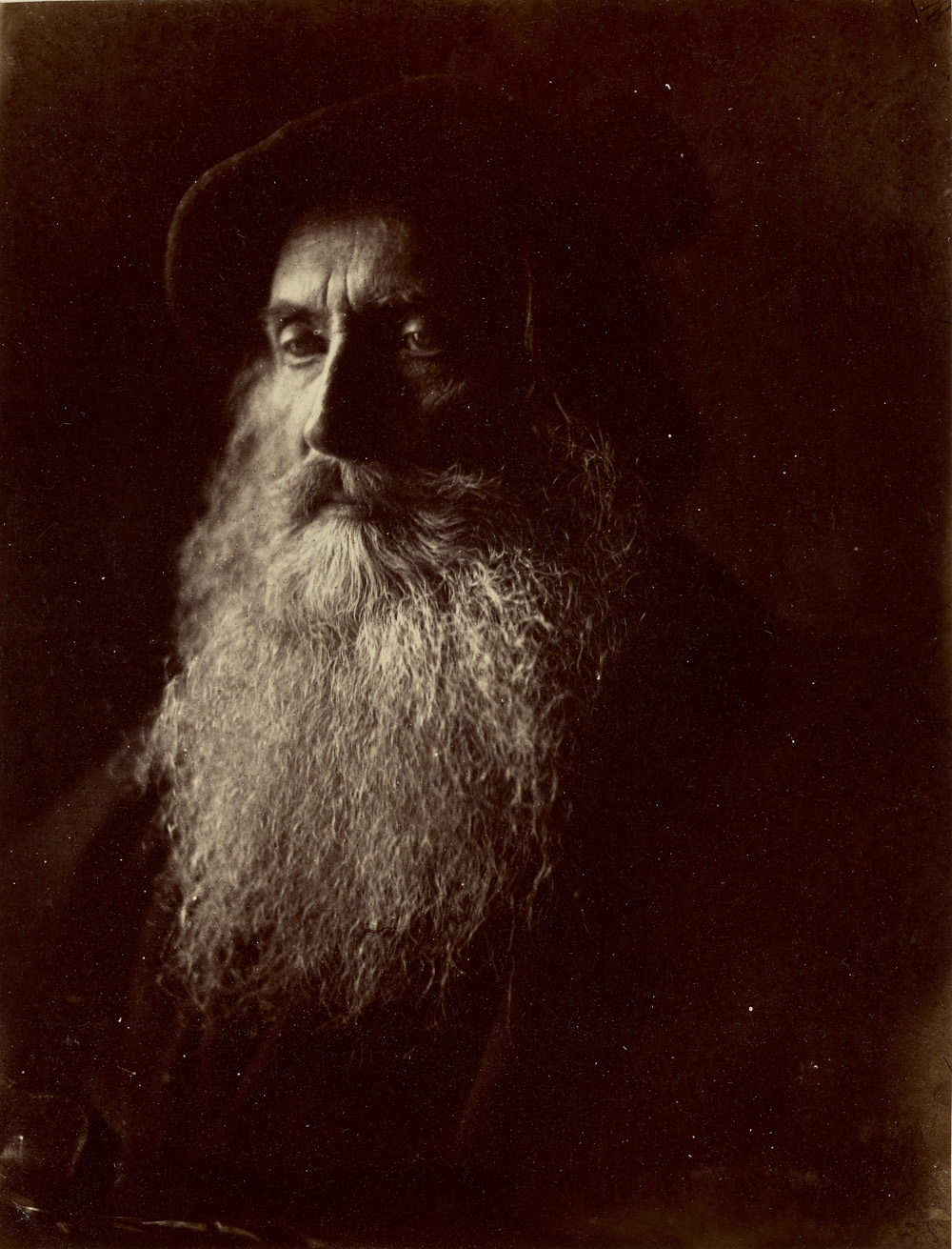 Julia Margaret Cameron (British, born India, 1815 - 1879)  Sir Henry Taylor (a Rembrandt),  1866, Albumen silver print 26.7 x 20 cm (10 1/2 x 7 7/8 in.) The J. Paul Getty Museum, Los Angeles