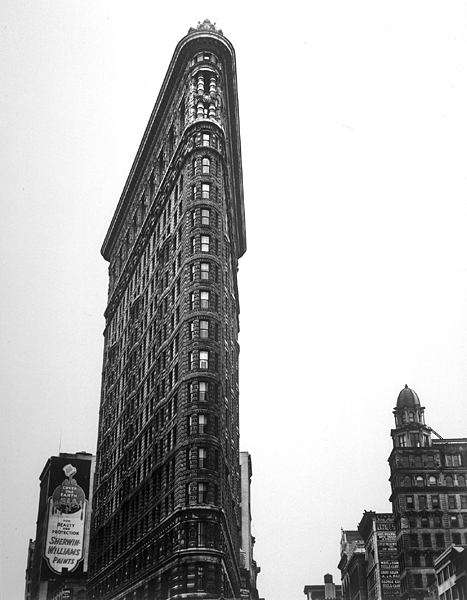 Flatiron - 1938   By Berenice Abbott [Public domain], via Wikimedia Commons