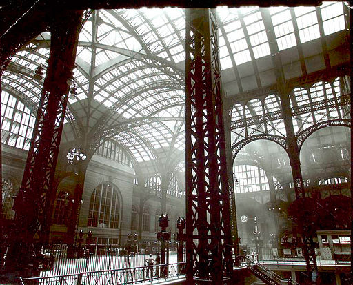 Penn Station, Interior, Manhattan   By Berenice Abbott, [Public domain], via Wikimedia Commons
