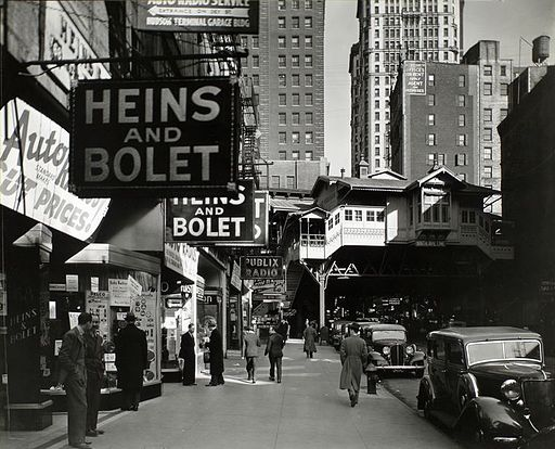 Radio Row in 1936   By Berenice Abbott [Public domain], via Wikimedia Commons