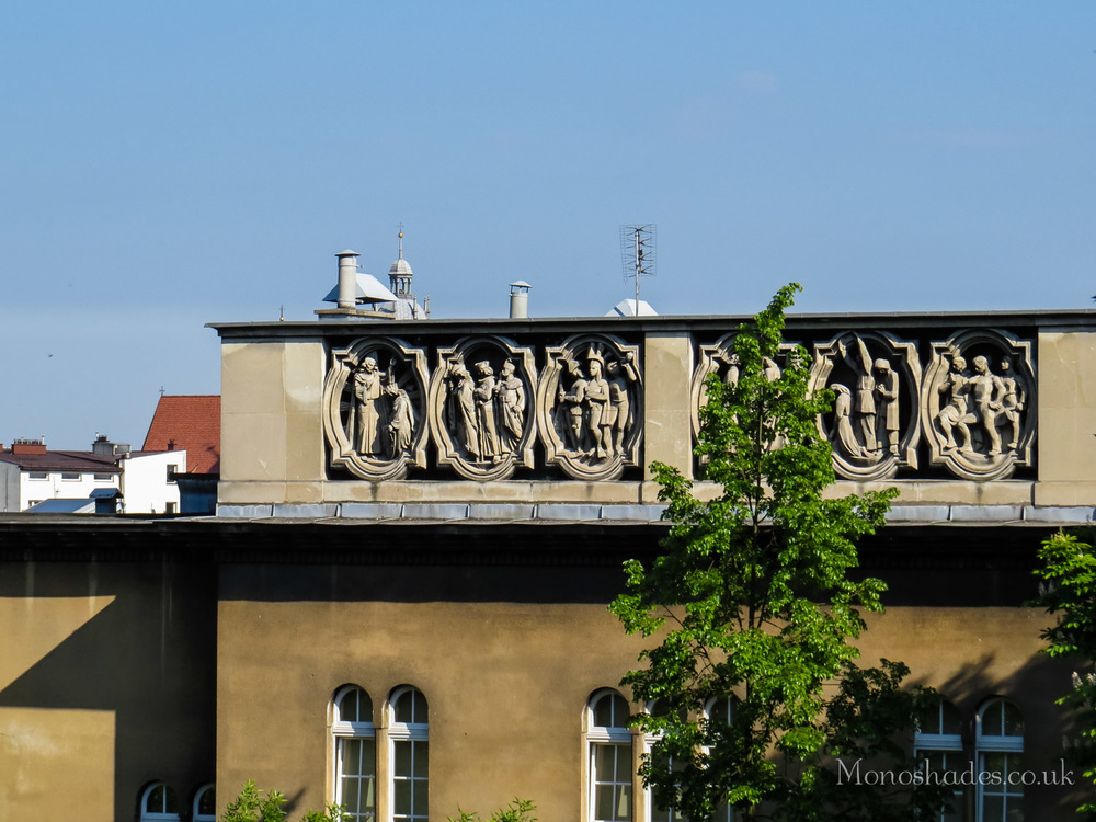 Ornaments at the top of a building