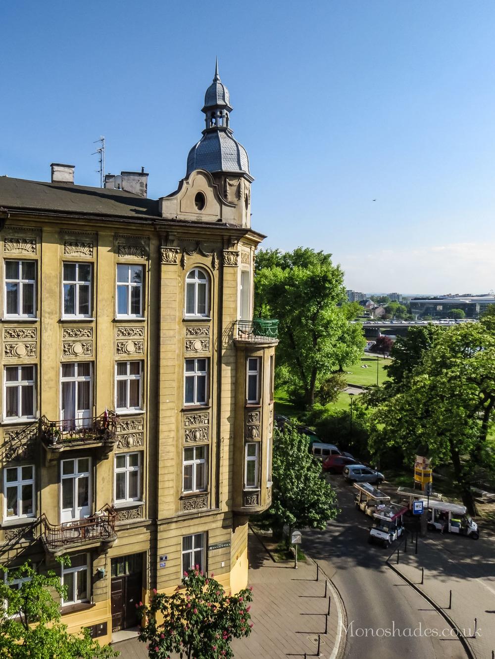 A building on the corner of Smocza and Bernardynska streets