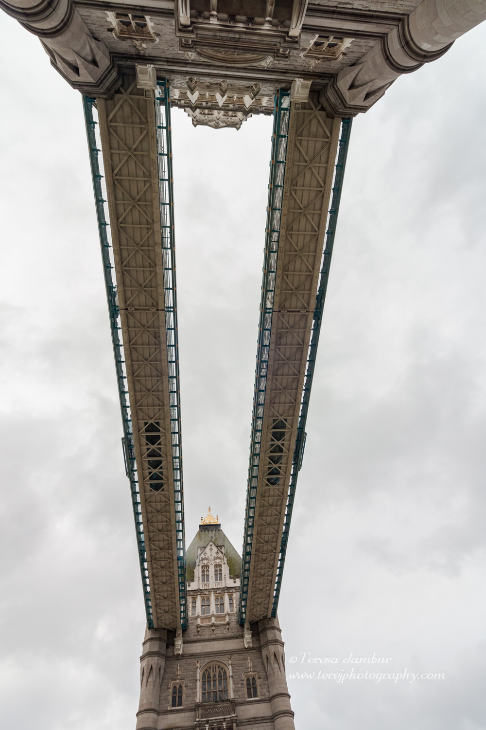 View of Tower Bridge through the open sunroof