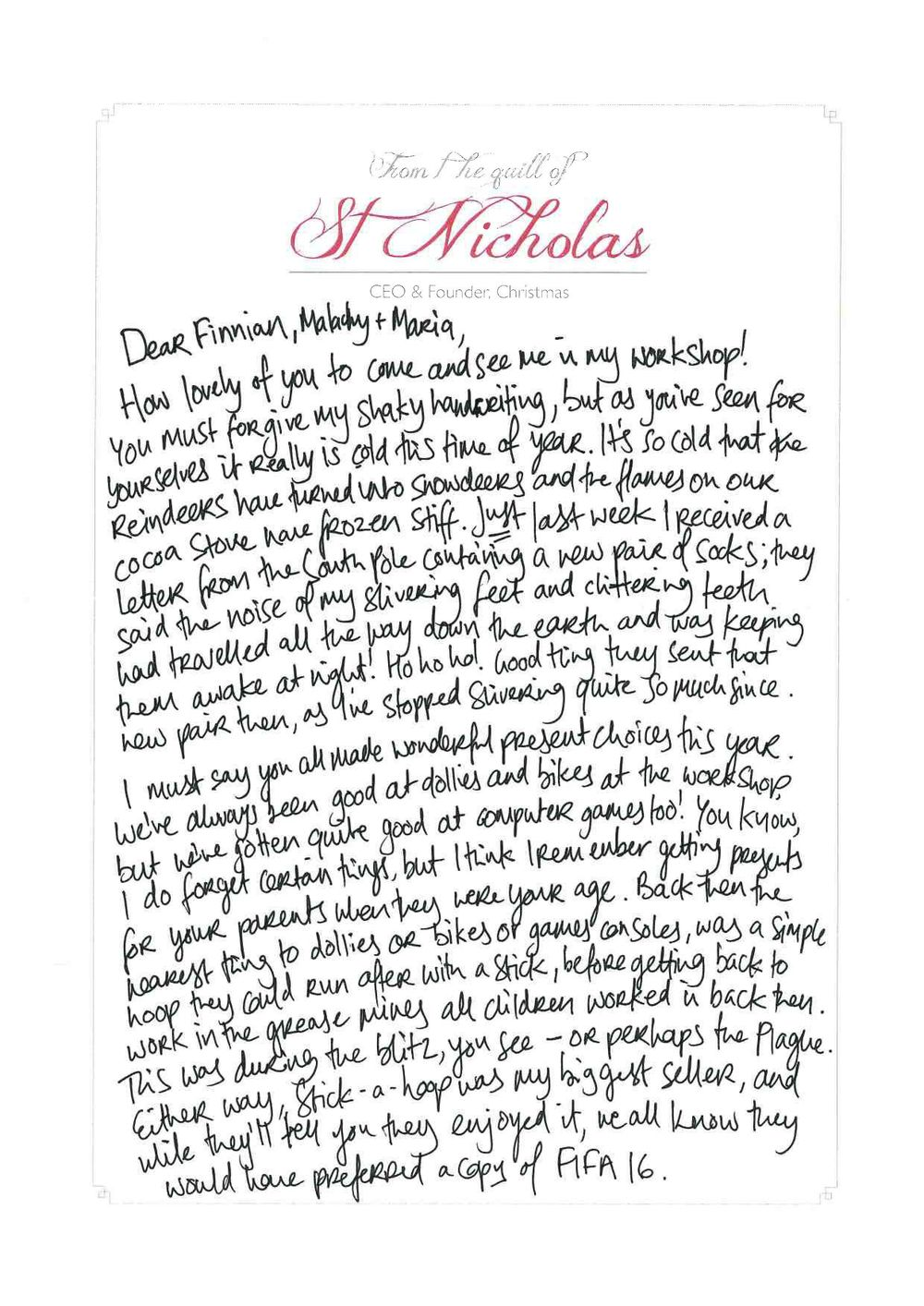 Santa letters shocko i got my siblings to send me photos of their letters to santa before they went up the chimney or what have you so i had idea of what they were expecting spiritdancerdesigns