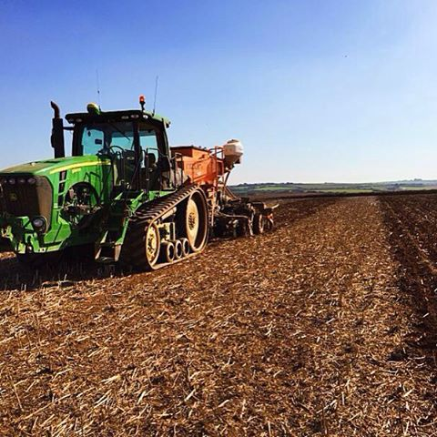 Mixing things up for 2016 with this years Simply Oil rapeseed stubble being used for planting next years Maris Otter Barley - a crop heading for the cornish heights of @st_austell_brewery #ecofarming #tribute #britishfarming #supportlocal #ale #cheers #love_cornwall #indiansummer