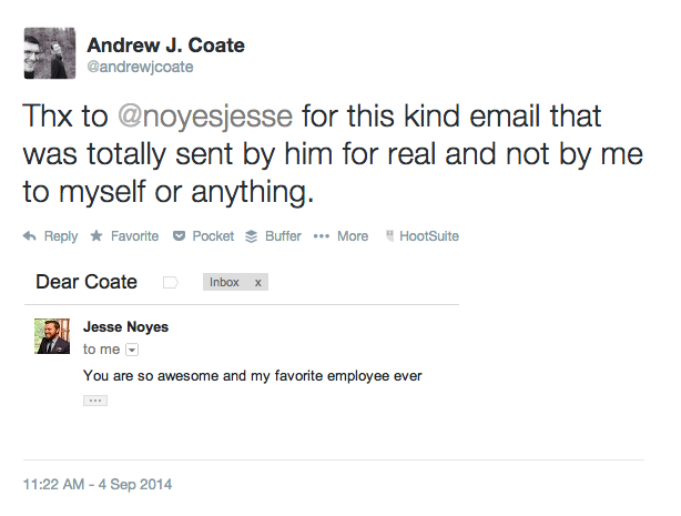 Jesse Noyes thinks Andrew J. Coate Rules