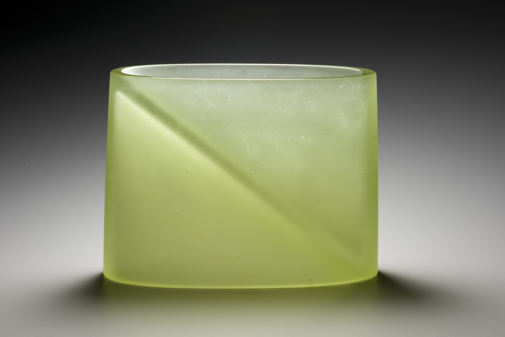 INBETWEEN Cast glass   10.25 x 8.25 x 4""