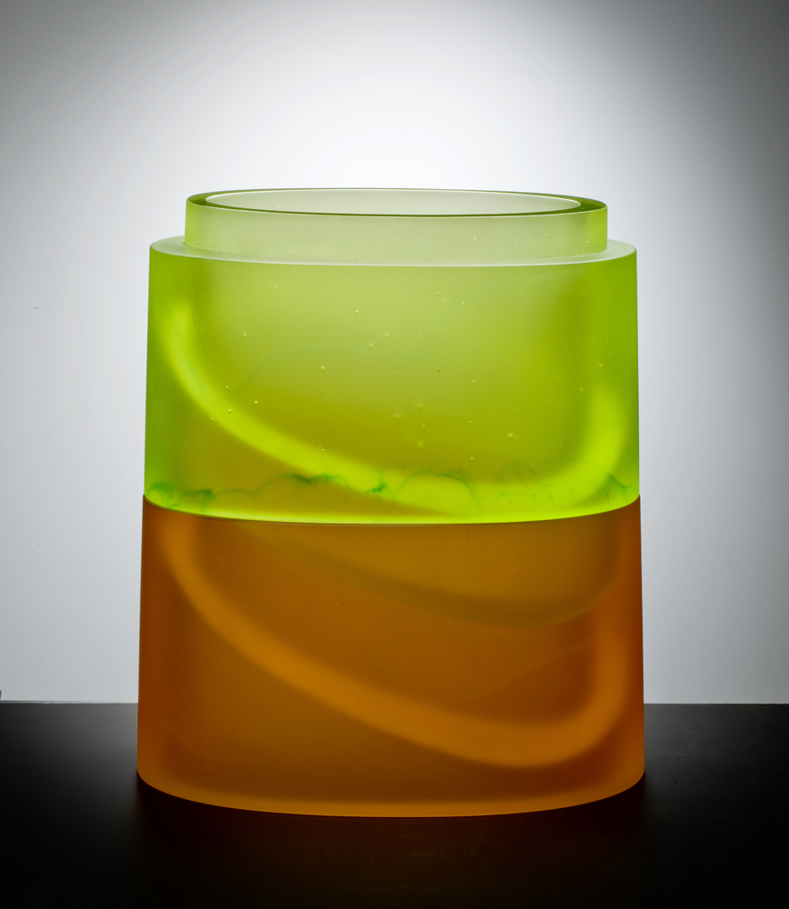 UPSURGE Cast glass  16 x 15 x 7.5""