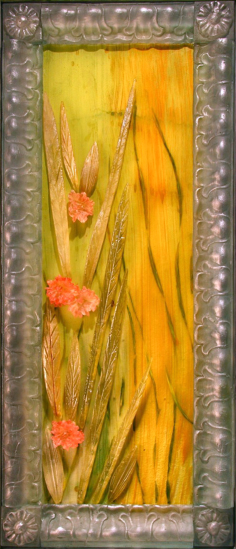 SABINO Cast glass, mixed media  41.5 x 18 x 2""