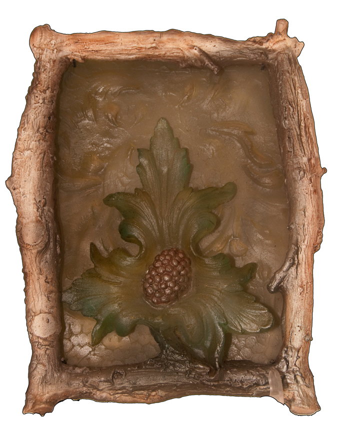 DESERT BLOOM Cast glass, mixed media  20 x 17 x 3""