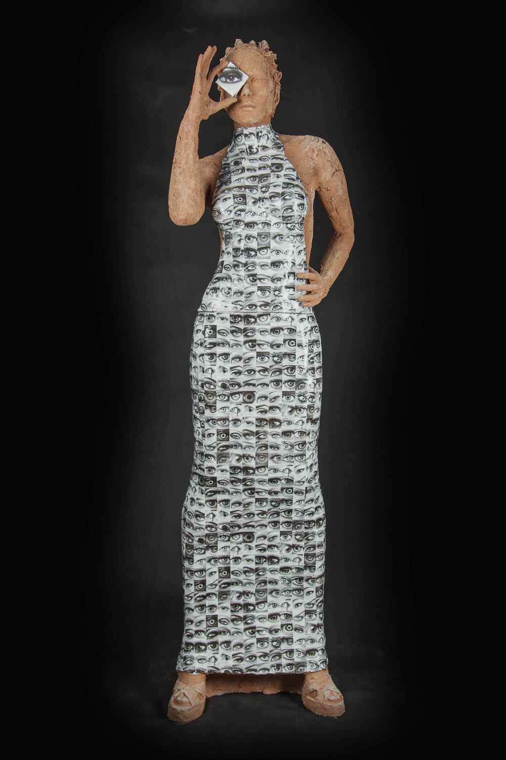 I HAD TO BE YOU   Ceramic and glazes   63 x 25 x 16""