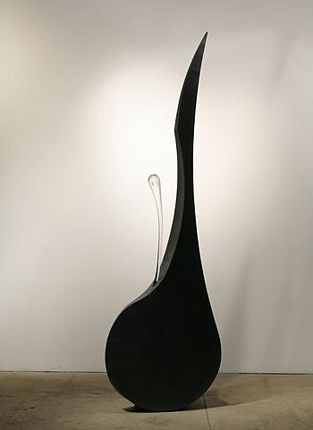 EDGE 11 Blown glass, steel  90.5 x 28 x 13""