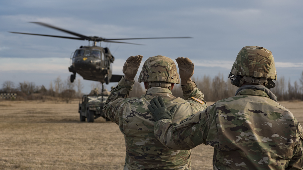 Task Force Spearhead conducts sling load training with 173rd