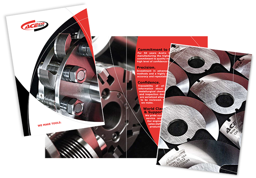 Ace Company Product Catalog design, layout and photograpy completed as part of AceCo's rebranding.