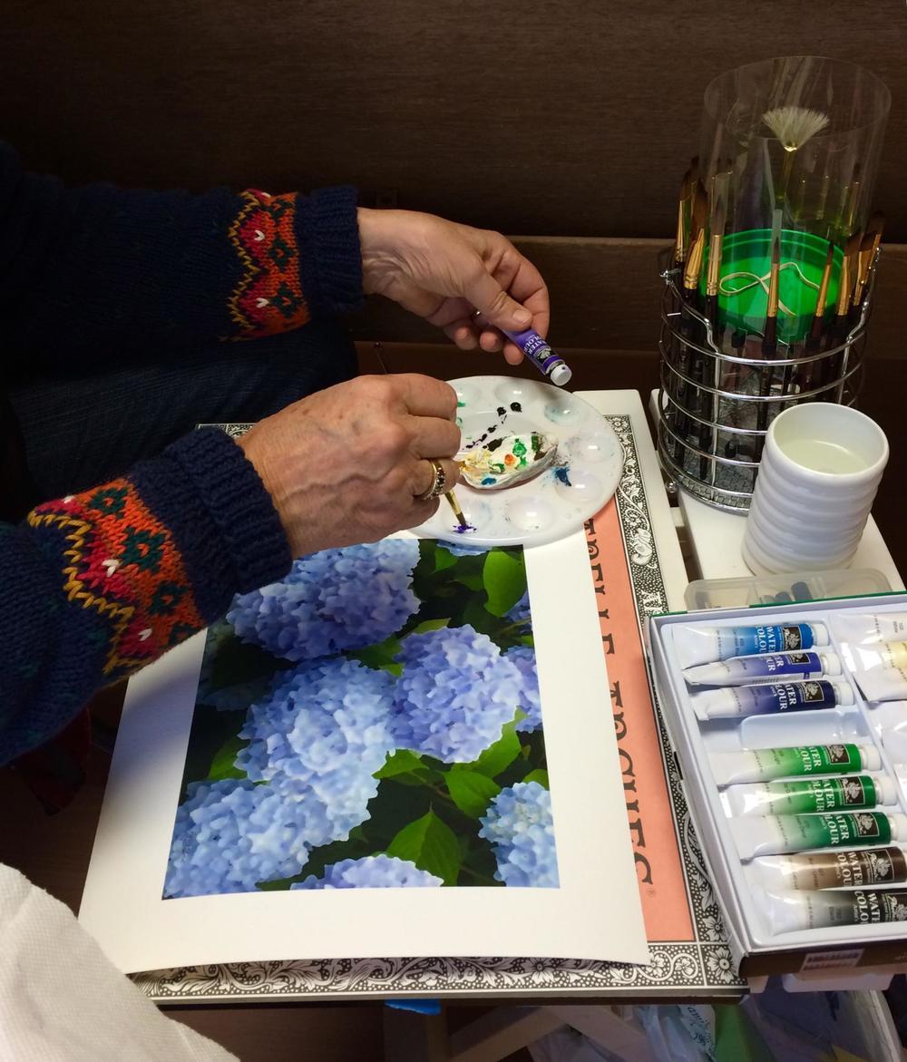 A closeup of Heather's artistic process. Photo Credit: Rebecca Sher