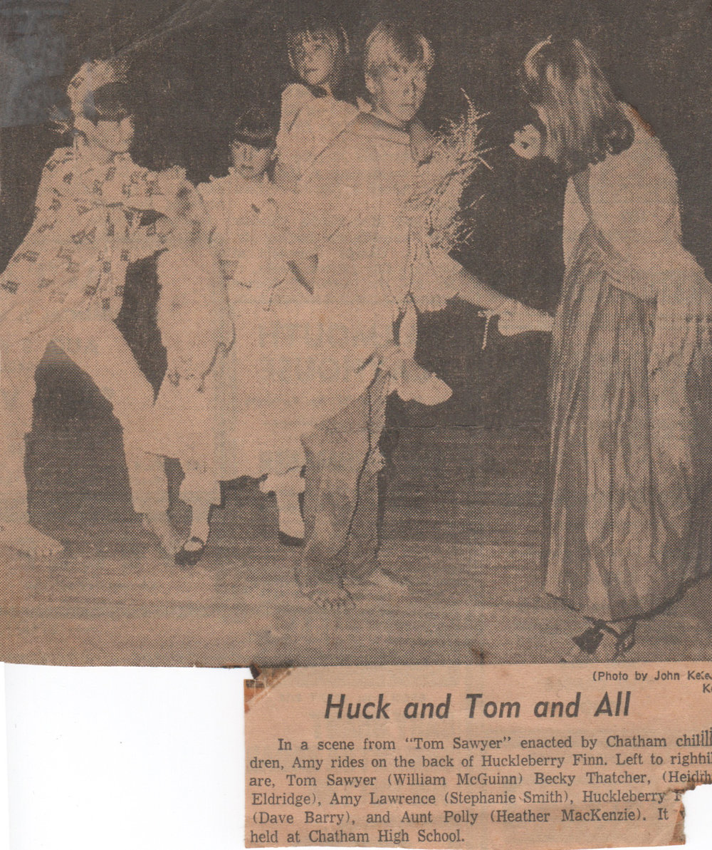 "Harwich Junior Theatre Summer Program production of ""Tom Sawyer""  ~1966"