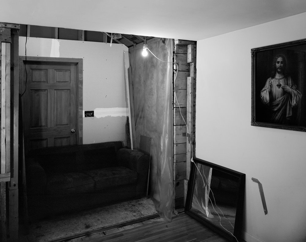Untitled (Half a Room), 2016  30.85 x 40 inches (78.38 x 101.6 cm)  Large Format Negative, Archival Inkjet Print