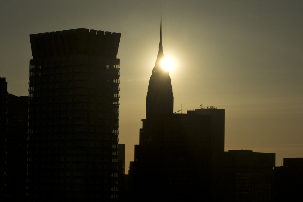 The Chrysler Building with Sun