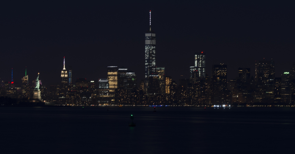 Nightscape of Lower Manhattan