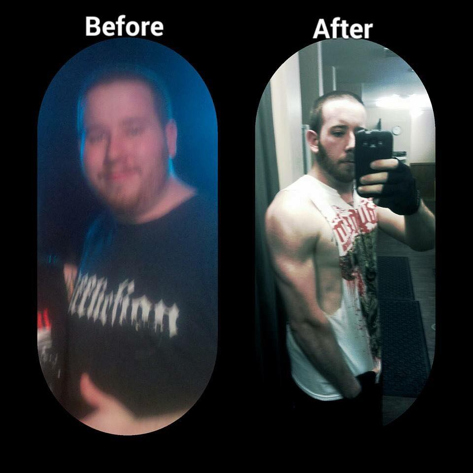 6 month fitness transformation between 2012-2013.