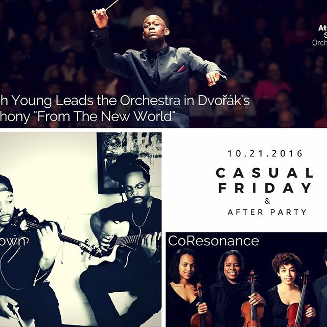 Come check out the Atlanta Symphony's Casual Friday performance! October 21st 6:30-9:00pm @ Woodruff Arts Center.  Major talent, Joseph Young conducting the ASO followed by performances from CoResonance and Unknown Lyric.  You won't want to miss this!  Purchase tickets @ AtlantaSymphony.org use discount code OKcello