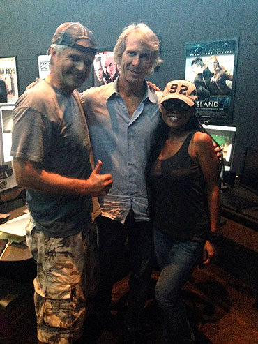 Jarmo Pohjaniemi, Michael Bay and Mary Alejo