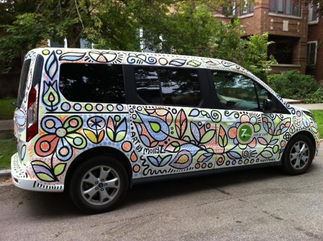 Zipcar Wac Molly Z Art Design